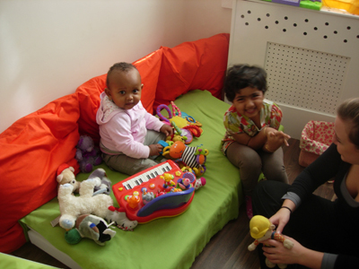 Pre-school children together at Early Learners' Nursery School, Leicester