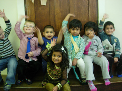 Happy children at Early Learners' Nursery School, Leicester